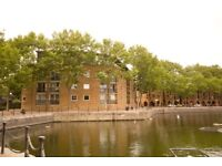 Spectacular split-level penthouse apartment within this gated development on Brunswick Quay SE16