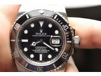 Men's Rolex Submariner Black Swiss ETA 2836 - PERFECT XMAS GIFT!!!