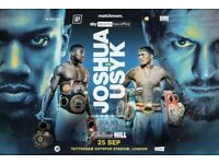 Anthony Joshua vs Oleksandr Usyk Tickets for sale from £100
