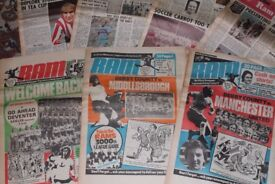 FIRST SIX VOLUMES OF DERBY COUNTY RAM NEWSPAPERS