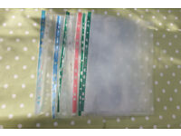 Clear document wallets - £5 per pack of 100