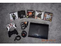 PS3 Sony Playstation 500GB with 5 games