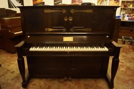 C. Bechstein art cased upright piano- Very rare model - Delivery available world wide