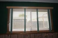 Two sets of Wood Looking Blinds