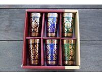 Tea Glasses with Gold Decor