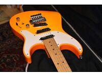 Vintage Charvel Spectrum Jeff Beck Humbuckers Floyd Rose tremolo orange almost unused practice amp