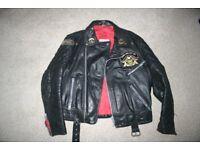 "Mens Black Leather Jacket Size 44""/112cms"