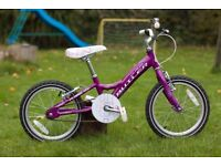 "Claude Butler ""Flame"" Girls Bike, 16"" Wheels, 2015 model, Purple, suits 5-7 y.o."