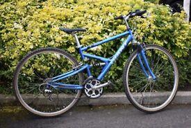"Ladies Hybrid 17.5""Full Suspension Bike Giant X Cross Series 9000"