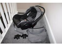 Venicci baby car seat with pram adapters - grey / black CAN POST
