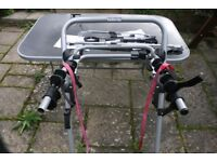 Halfords Cycle Carrier for 3 bikes with additional 'false bar' for carrying smaller bikes