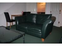 Two Leather two seater sofas - £25 each