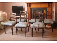 Set of 6 antique mahogany chairs with beautiful detail work