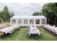 Marquee 8x12 m PVC Garden Party Tent Gazebo Wedding Heavy Duty + Decoration Lining