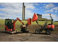 MINI DIGGER / DUMPER HIRE (WITH OPERATOR) YOU CANT BUY EXPERIENCE BUT YOU CAN HIRE IT HERE
