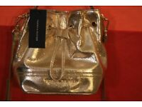 Authentic- Tommy Hilfiger small gold cross body bag * Brand New *
