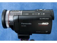 Panasonic HD Video Camera with Wireless Microphone and Tripod