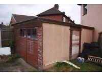 Prefab Concrete Garage / Workshop (approx 5mx3m)
