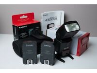 Canon 430EXII speedlite flash with a pack of 2 Yongnuo YN-622C wireless transceivers £160