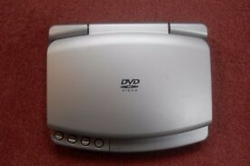 Portable DVD player & carry pack, mains & car charger