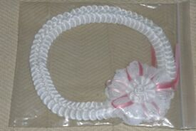 Baby's NEW Headband / Head Band / Hair Band for Wedding or Christening etc, Still in Packet, Histon