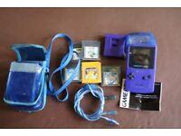 Nintendo Gameboy, five games, accessories