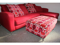 High quality retro corner sofa by DFS - Can deliver too