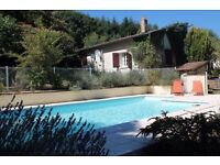 Spacious gîte sleeps 10 suit 2 families large pool ideal area for biking and walking.