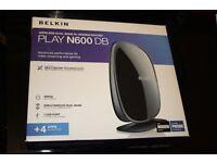 Belkin Play N600 Db Wireless Networkplus Router Black