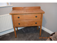 Wooden Antique Dresser and Draws, Real Wood
