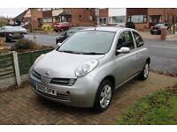 Nissan Micra 2005 Silver 3 door- Great first car- Low mileage, Good condition, Quick sale