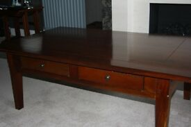 Coffee Table- Wooden-Warm Dark Mahogany Colour -very good condition .
