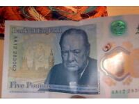 AA £5 note
