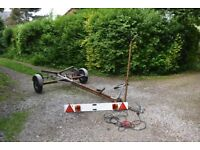 Dingy Boat Trailer with Lighting Board