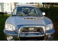 SANTA FE HIGH QUALITY BULL BARS IN STAINLESS STEEL COST £500 2002 to 2007 easy fit