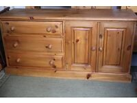 Lovely Solid pine sideboard / cupboard