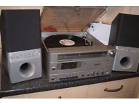 philips record player/radio/cassette