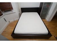 Ikea Double bed and memory foam mattress