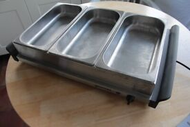 Used Gourmet Triple Buffet warmer/Warming tray, Excellent condition