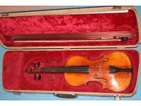old full sized violin ready to play