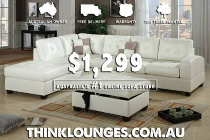 BRAND NEW DELIVERED LEATHER LOUNGE SOFA for $1299 !!! Sydney City Inner Sydney Preview