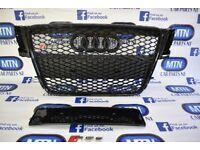 AUDI A5 B8 RS5 FRONT GRILL GLOSS BLACK 2007 - 2012 APROX FITTING FITS B8 MODELS