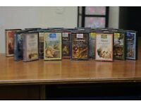 Cassette tapes of classical music, comprising works by several compos