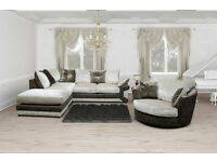** EXPRESS DELIVERY ** BRAND NEW MAX DIAMOND CRUSH VELVET CORNER SOFA OR 3+2 ON SPECIAL OFFER