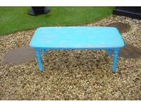 coffee table annie sloan chalk painted giverny also waxed