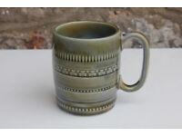 Used, Vintage Wade Irish Porcelain Ceramic Mug Green Shamrocks Ireland Unusual Gift Cup for sale  Gloucester Road, Bristol