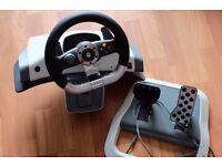 Xbox 360 wheel drive + pedals
