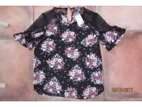 Brand new with tags. Ladies Size 12 Floral top. Very pretty. £3. Torquay or can post.