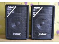ProSound PS08 100w DJ PA Speakers - Great Sounding Pair Of Speakers