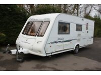 Compass Ralleye 524 L 2004 4 Berth Caravan + Motor Movers + Porch Awning